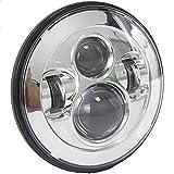 SunTime 7 Zoll 40 Watt Runde Daymaker LED Projektor Motorrad Scheinwerfer Wasserdichte Birne für...