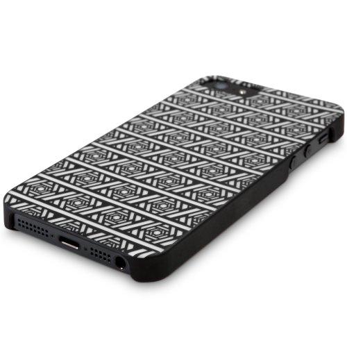 BoxWave Étui Aztec Minimus Apple iPhone 5cas-Ultra faible profil, slim fit Coque à clipser de première qualité pour Apple iPhone 5avec motif tribal aztèque et coques (Blanc)