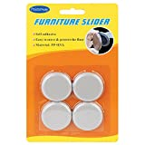 #10: Primeway Round Moving Furniture Sliders, Dia 40mm, 4 Pcs Set