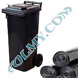 200 Müllsäcke zum Auskleiden von Mülltonnen. 240 Liter. 40µ. Abfallsäcke.