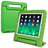 iPad 4 3 2 kids case, COOPER DYNAMO Rugged Heavy Duty Children's Boys Girls Tough Rubber Drop Proof Protective Carry Case Cover + Handle, Stand & Screen Protector for Apple iPad 2 3 4 Green