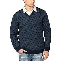 Aarbee Men's Blended Sweater (HW92957_M _Navy _Medium)