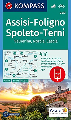 Foligno / Spoleto / Tern / Valnerina D/I: Wandelkaart 1:50 000