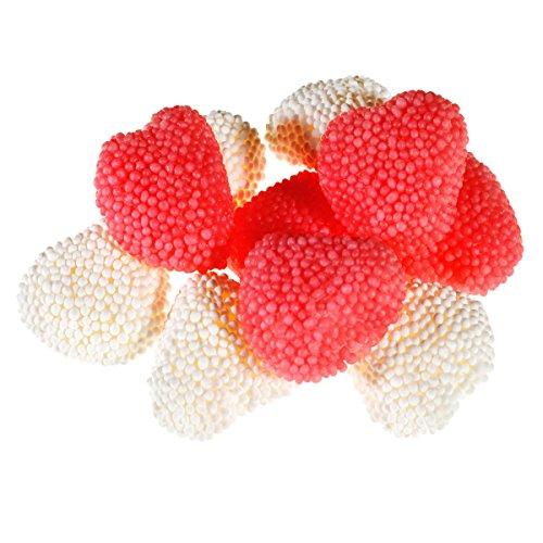Fruchtgummi Bolitos Herzen Kirsch Vanille – in unserem schönen 150g Beutel.