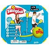 Enlarge toy image: Lite All Surface Swingball Toys for Kids Garden Play Outdoor Tennis Swing Ball Outdoor Garden Activity, Family Tennis Play Set