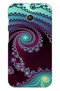 AMAN More Design 3D Back Cover for Motorola Moto E