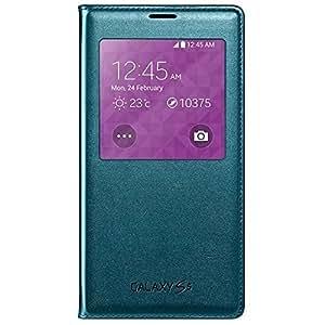 Samsung Clear Cover Etui en plastique à rabat pour Galaxy S5 Bleu Menthe