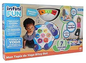 infinifun-Mon Alfombra de Yoga Bitsy BOT Robot, i18030, Sujetadores