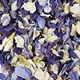 Picture Of Natural Biodegradable Delphinium Wedding Confetti - 26 Colours Available (Cream & Shades of Blue, 1 Litre)