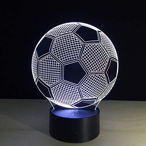 Equipo de fútbol 3D Lámpara Acrílico Luz nocturna con 7 colores Cambiar...