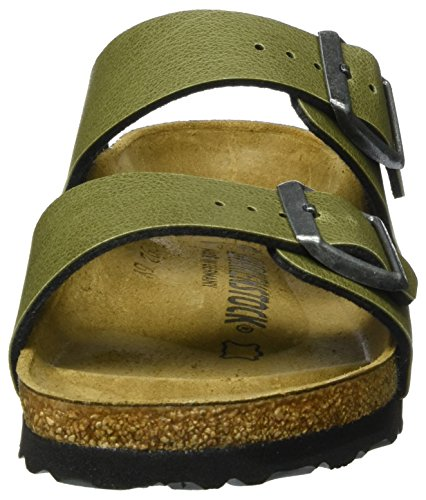 Birkenstock Arizona Birko-Flor, Mules Mixte Adulte Grün (Pull Up Olive)