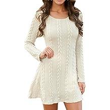 new product e939d b2683 Amazon.it: abito di maglia - Bianco
