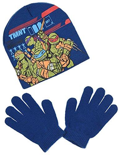 Tortues Ninja Jungen Schal & Handschuh-Set Gr. 54 cm (6-9 Jahre), blau