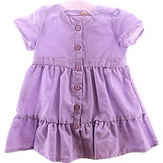 AGA Kleid Baby Kleidchen 74 80 86 Lila NEU Sommerkleid Kurzarm karriert (74)