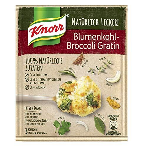 Knorr Natürlich Lecker! Blumenkohl-Brokkoli Gratin, 5er Pack (5 x 42 g)