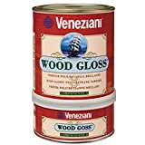 Veneziani - Wood Gloss vernice di finitura brillante, colore: Trasparente, size: 750 ml A+B