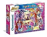 Clementoni-Clementoni-23724-Supercolor Puzzle-Winx-104 Maxi Pezzi,, 23724
