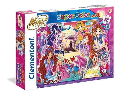 Clementoni- Puzzle Winx 104 Maxi Pezzi, Multicolore, 23724