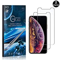 SONWO iPhone X/iPhone Xs Screen Protector, Full Coverage Tempered Glass Screen Protector Film, Case-Friendly Compatible with Apple iPhone X/iPhone Xs, 2-Pack