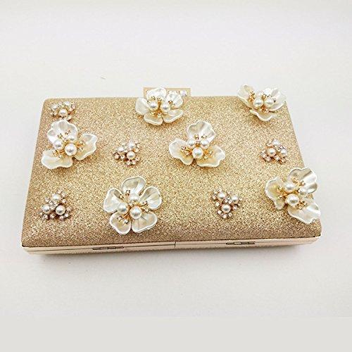 Für Frauen Blumen Strass Wulstige Abendtaschen Hochzeit Clutch Handtasche PhotoColor