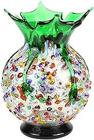 YourMurano Vaso in Vetro di Murano, Elegante Vaso Colorato, Made in Italy, Vetro Soffiato, Design Moderno, Fat
