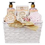 Set regalo grande per il corpo e il bagno con rose britanniche, set regalo - include tutti gli accessori per il bagno completo di grande cesto e fiocco