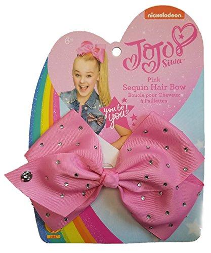 Nickelodeon JoJo Siwa Girl's Costume Hair Bow, Pink