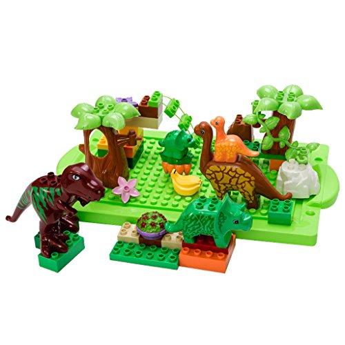 Dinosaurio Jurásico Tema De Juego De Construcciones De Plástico Para Niños Conjunto De 40 PC