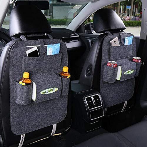 LVEDU 2 Pack Auto Rücksitz Organizer Müllnetz Halter Reise Aufbewahrungstasche Aufhänger für Auto Aufbewahrungstasche Autositz