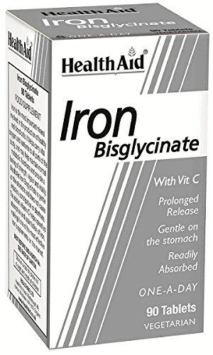 Vit Eisen (Iron Bisglycinate (Iron with Vitamin C) (Eisen+Vit. C) 90 Tabl.)