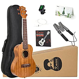 Kmise Tenor Ukulele Starter Kit Mahogany Ukelele 26 inch with Gig Bag Tuner Strap String Instruction Booklet