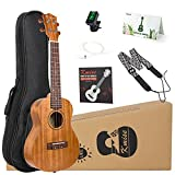 Ukulele Beginner Vintage Hawaiian Ukelele With Uke Starter Pack Kit (Concert, Acoustic)