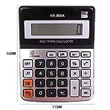 Macrorun Elektronischer Taschenrechner 12Digital Solar Taschenrechner für Business Buchhaltung Studenten