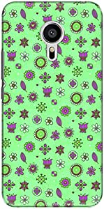The Racoon Lean printed designer hard back mobile phone case cover for Meizu M3 Note. (Green Bubb)