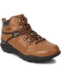 Red Chief Men's Elephant Tan Leather Trekking and Hiking Footwear Boots (RC5070)