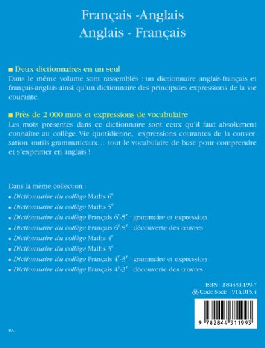 Dictionnaire du College Français-Anglais Anglais-Français