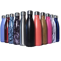 NESJET Stainless Steel Water Bottle – Double Walled Vacuum Insulated | BPA Free | Keeps your Drinks Cold for 24 hours and Hot for 12 Hours | Ideal for Kids and Adults for Indoor and Outdoor Use