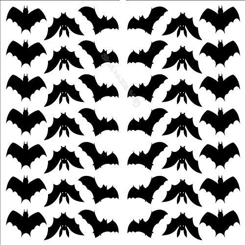 tz Halloween Bat Wandaufkleber Dekor Wohnzimmer Home DIY Selbstklebende Allerheiligen Party Wandbild Kunst Tapete Ea783 78x56 cm ()