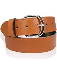 "MENS REAL LEATHER 1.5"" TAN BROWN BELT FULL REAL LEATHER BELTS MADE IN ENGLAND 26""-55''"