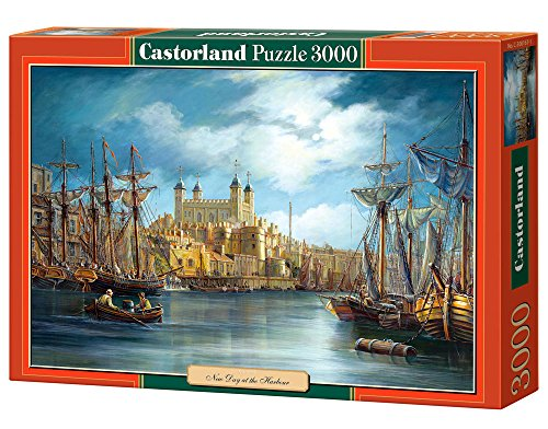 Castorland C-300167-2 - New Day At the Harbour, 3000-teilig, Klassische Puzzle