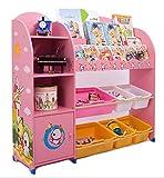Libreria per bambini SZ5CGJMY, scaffali per riporre i giochi, scatole organizer, vetrina, armadio, mobili per la cameretta (pink)