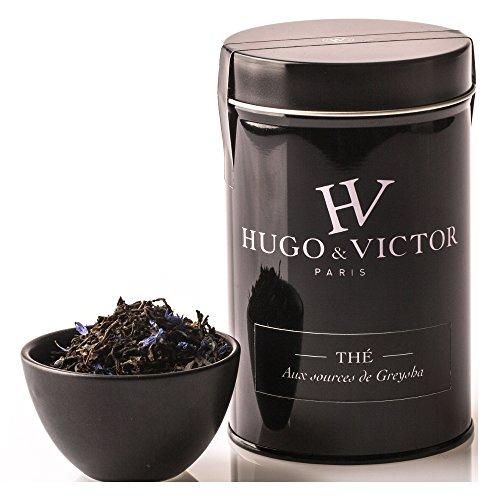 Hugo & Victor Paris - Thé Noir de Chine parfumé Bergamote, Orange, et pétales de Bleuet - 100g