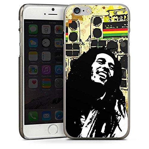 Apple iPhone 5s Housse étui coque protection Bob Marley Reggae Jamaïque CasDur anthracite clair