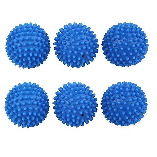 SSXCO -6 x blau Wiederverwendbare Trocknerkugeln Weichspüler Ball, blau