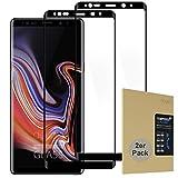 doupi 2X FullCover Pellicola Vetro Temperato per Samsung Galaxy Note 9, [2-Pack] Premium 9H Vetro Temperato HD 2.5D Anti-Impronte Anti-graffio Ultra-Clear Protezione dello Schermo Protettiva, Nero