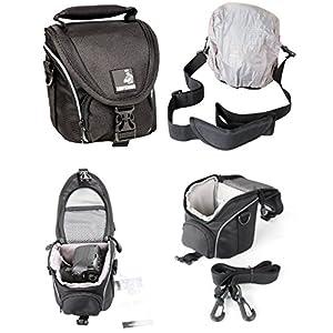 Foto-Tasche-klein-schwarz-passend-fr-Nikon-Coolpix-B500-L330-L340-L840-Canon-Powershot-SX530-SX540-HS