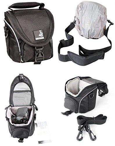 Foto-Tasche klein schwarz - passend für Nikon Coolpix B500 L330 L340 L840 Canon Powershot SX530 SX540 HS