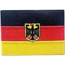 Deutsches Wappen Flagge Bestickter Deutschland Eagle Aufnäher zum Aufbügeln / Annähen Bundesdienstflagge