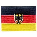 Bandiera del braccio tedesco Germania Eagle Termoadesiva Cucibile Ricamata Toppa