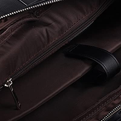 Lalawow Hommes Style Classique Sac à main Sac Bandoulière Serviette Cuir Sacoche Ordinateur Business Besace